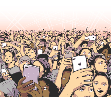 Background art of party people at concert