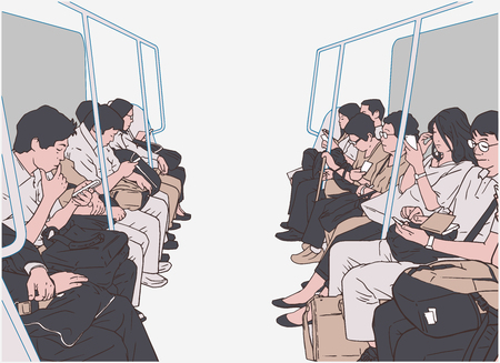 Public transport train image illustration