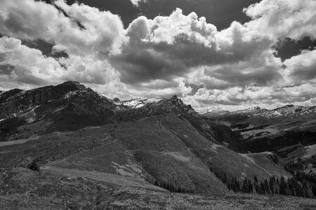 Switzerland Alps Graubuenden Mountain Scenery Piz Beverin. High quality photo
