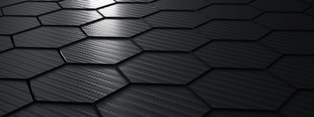 black carbon fiber structure - Illustration 版權商用圖片