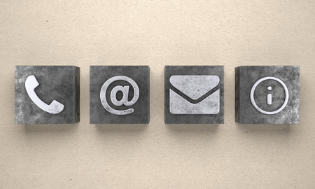 Contact Icons - Illustration Stock Photo