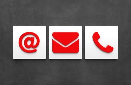 Contact Icons - Illustration Stockfoto