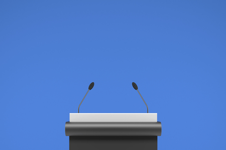 speaker podium in front of clear background - Illustration