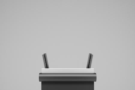 german bundestag podium - 3d rendering