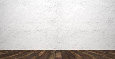 rustic empty room with stone wall - Illustration