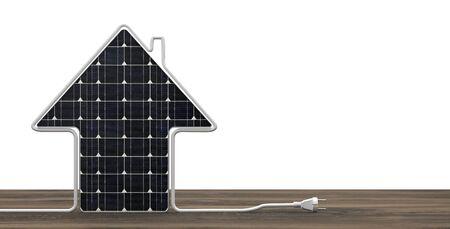 Photovoltaics Power Plug Zdjęcie Seryjne