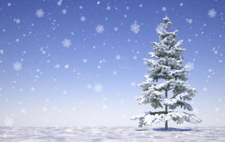 buon natale con fiocchi di neve - Illustrazione