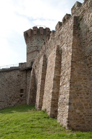 Medieval tower and city walls