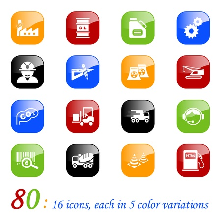 Industry icons, color series Stock Vector - 10699712