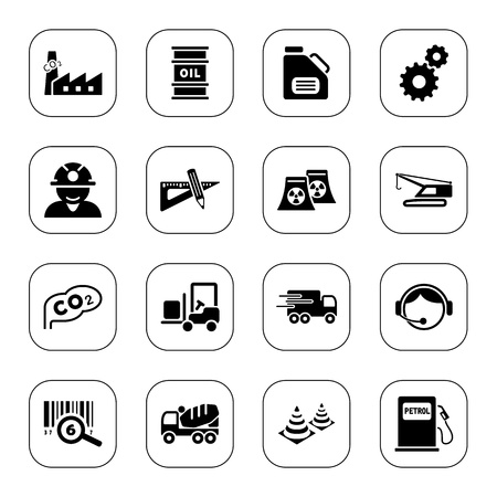Industry icons, BW series Vector