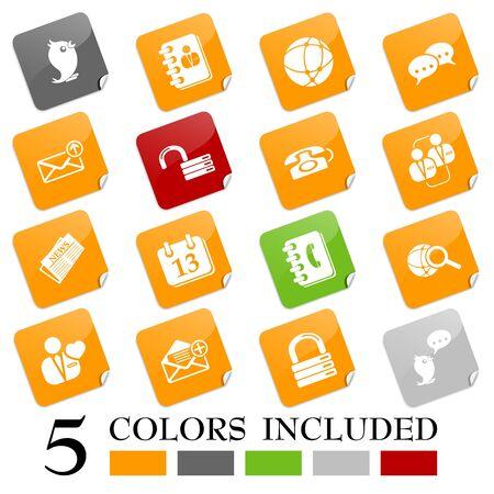 Social media & blog icons, sticky series Stock Vector - 10771461