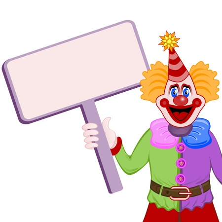 Clown with table Vector