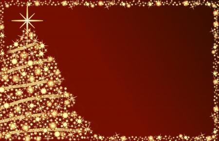 스타와 함께 크리스마스 트리 일러스트