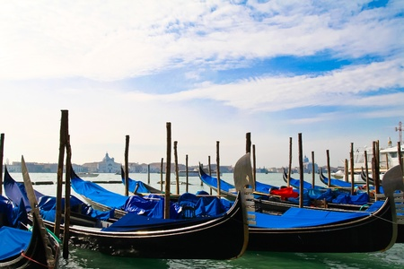 Gondolas on the Venice lagoon Stock Photo - 12752189