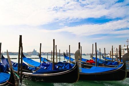 Gondolas on the Venice lagoon Stock Photo - 12752189