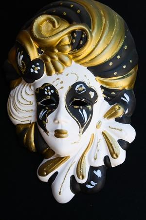 Carnival mask isolated on black photo