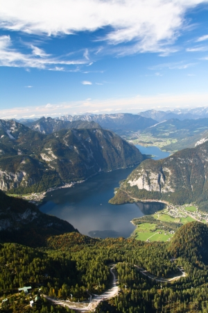 Mountain lake Hallstattersee - view from Krippenstain
