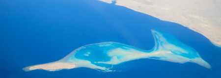 Island in the Red Sea in the shape of fish