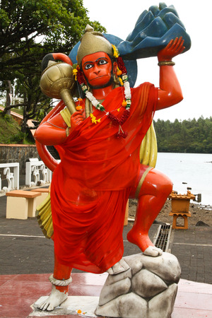 Hindu statue in Grand Basin, Mauricius Stock Photo