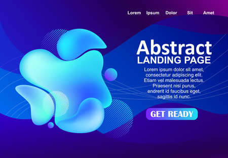 social network concept background design with abstract liquid style Stock fotó - 155398690