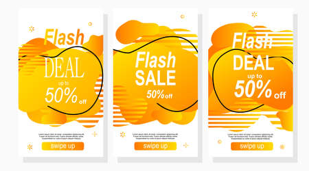 set of labels for sale and discount for social media stories Vector Illustration
