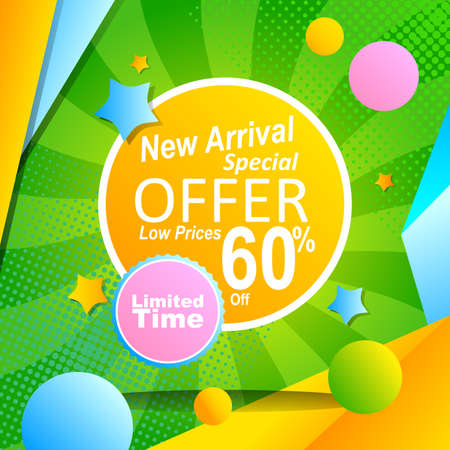 poster promotion with abstract background for special offer advertisement