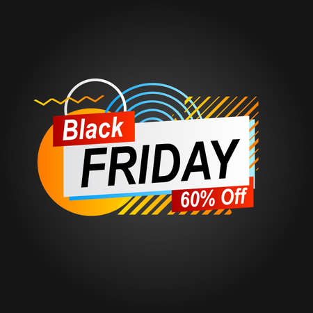 abstract illustration with geometric shape black friday banner promotion