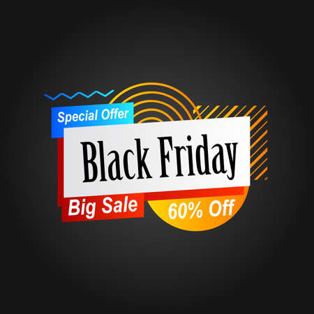 background with text and abstract geometric shape for black friday banner promotion 向量圖像