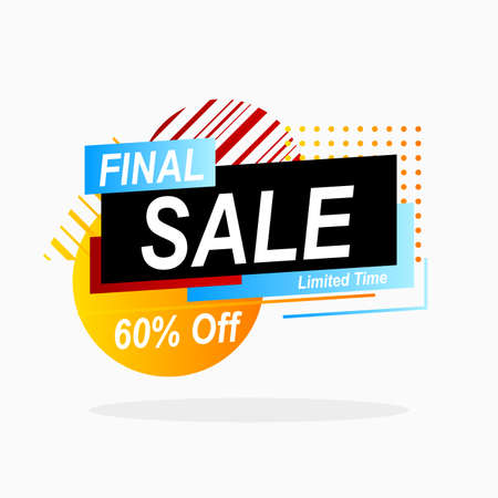 final sale banner promotion with geometric shape for advertisement Illustration
