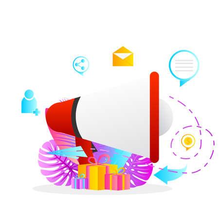 background design for refer a friend program promotion