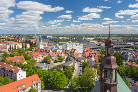 A view of the city Szczecin in Poland