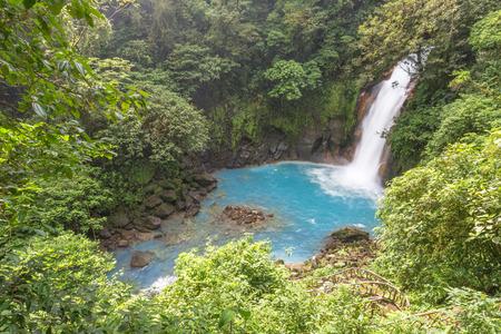Blue Waterfall landscape in Costa Rica