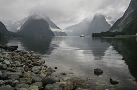 A view of the Milford sounds in New Zealand-Landscape