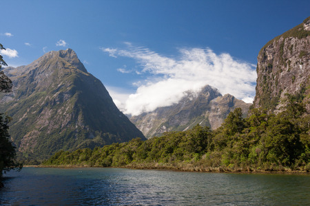 anau: view of the Milford Sound in New Zealand-Landscape