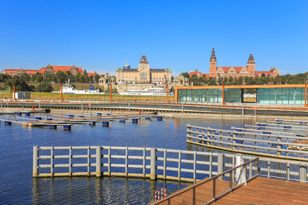 intrepid: A view of the city Szczecin in Poland