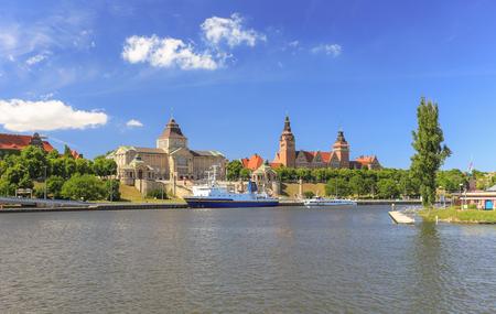 bristle: The Bristles (Szczecin) waterfront view Stock Photo