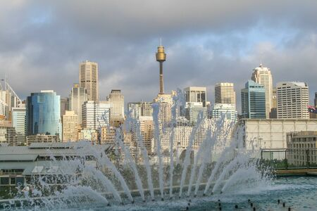 town halls: View of the city center in Sydney  Australia Stock Photo