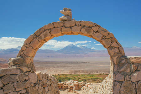 View of the ruins in the Atacama desert in Chile