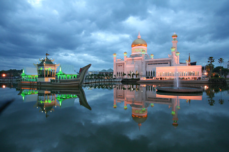 Night view of the Brunei mosque