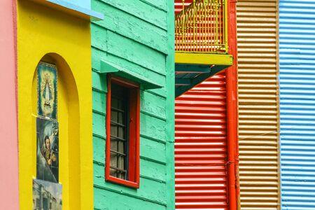 Colourful building in La Boca district  Buenos Aires  Argentina Stock Photo