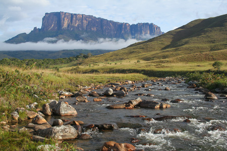 Landscape  view of the Roraima Mountain trekking in Venezuela