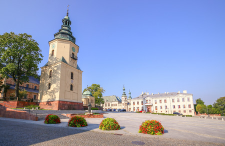 View of the Historical architecture in Kielce  Poland