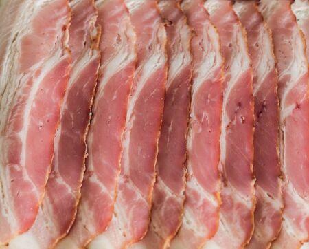 smoked bacon: Sliced ??smoked bacon