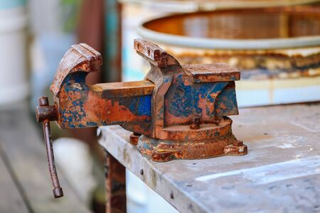 vise: The rusted vice  vintage
