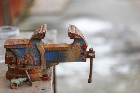 The rusted vice  vintage