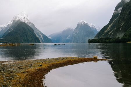 milford: Milford Sound  New Zealand fjord  landscape Stock Photo