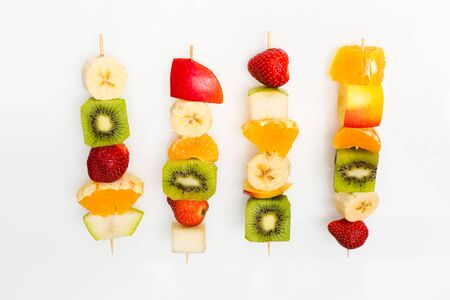 fruit skewers the concept of healthy eating