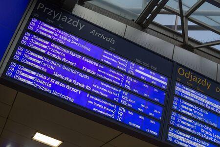 cronograma: Train timetable in Poland
