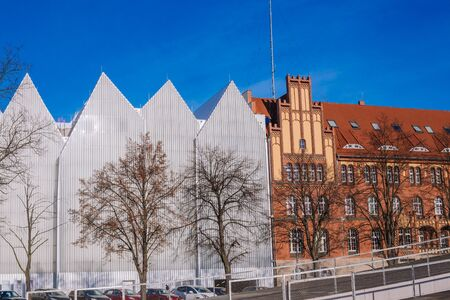 Szczecin  View of the old and modern architecture