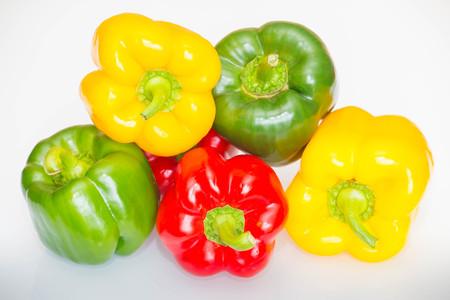 pimenton: colorful paprika Foto de archivo